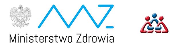 Logo Ministerstwa Zdrowia oraz Krajowego Biura Przeciwdziałania Narkomanii